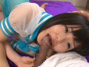 Japanese AV Model is a naughty teen in her school uniform