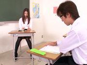 Horny teacher Natsume Inagawa enjoys true sex