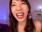 Yui Fujishima hot Asian girl enjoys a hard threesome fucking