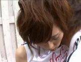Outdoor fucking with a teen cheerleader Rin Sakuragi picture 9