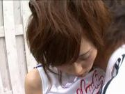 Outdoor fucking with a teen cheerleader Rin Sakuragi