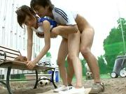 Outdoor fucking with a teen cheerleader Rin Sakuragiasian pussy, asian ass}