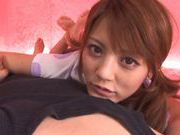 Risa Tsukino rides cock like wild!