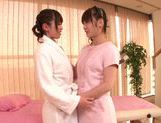 Steaming lesbian gal Fuuka Nanasaki in a kinky action picture 2