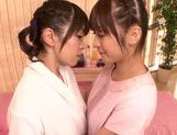Steaming lesbian gal Fuuka Nanasaki in a kinky action picture 6