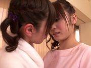 Steaming lesbian gal Fuuka Nanasaki in a kinky action