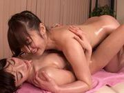 Steaming lesbian gal Fuuka Nanasaki in a kinky actionasian women, xxx asian}