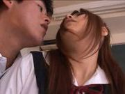 Kinky Japanese babe cum on face action