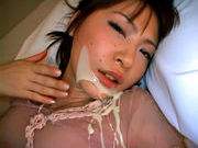 Rin Asian model gets a load of cum on her facecute asian, young asian}