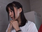 Tsukasa Aoi gang banged in the classroom by horny lads picture 3