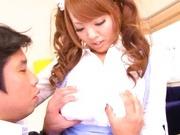 Hitomi Tanaka Japanese doll has big tits