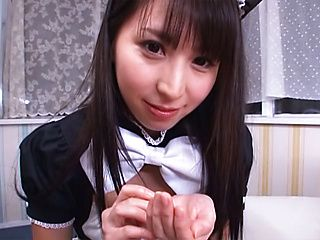 Ball licking action with hot Yuuki Itano
