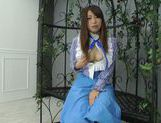 Sweet Asian Saki Hatsuki enjoys rubbing her tight vag