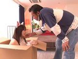 Hot Teen Yuuka Sakai Pops Out Of A Box To Fuck Her Man picture 3