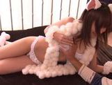 Hot Teen Yuuka Sakai Pops Out Of A Box To Fuck Her Man picture 6