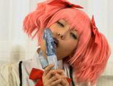 Chika Arimura sexy Asian chick in cosplay sex show picture 1