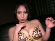 Busty solo girl Minami Ayase fondles her amazing body