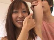 Dominant boyfriend gives Maho Uruya a deep hard rear fucking