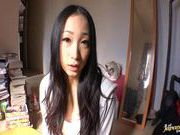 Teen fucked blasting cum in her sweet mouth Ami Adachi