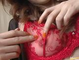 Yume Imano In Red Lingerie Take A Deep Drilling picture 7