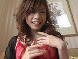 Yume Imano In Red Lingerie Take A Deep Drilling picture 9