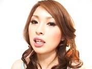 Hikaru Hozuki Asian babe gives a sexy footjob