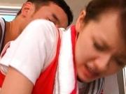 Horny sport girl Yui Uehara showing of her hard fucking skills!