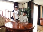 Wild babe Natsumi plays crazy sex game