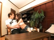 Michiru Kobayashi Gives A Footjob, Blowjob And Rimjob