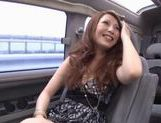 Milf babe Shiho kanou sucks cock and gets vibrator in a car picture 14