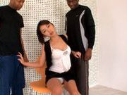 Marika enjoys two big black cocks!japanese porn, horny asian}