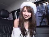Rion Ogura Opens Her Legs In A Car For Some Toy Sex picture 2