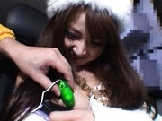 Rion Ogura Opens Her Legs In A Car For Some Toy Sex