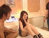 Nice assed Shiho Kanou gets foot licked and fucked in group