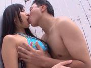Nice teen Nana Ogura gives a hot blowjob and a cumshot