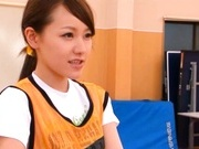 Yui Uehara is a sporty girl who loves a nice dick riding.