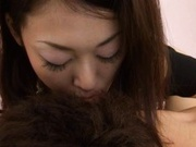 Cute Ann Yabuki gives a massage and sucks cock like crazy!