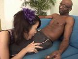 Marika enjoys two big black dicks
