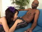 Marika enjoys two big black dicksasian chicks, cute asian}