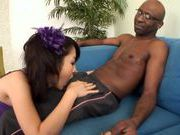 Marika enjoys two big black dickshorny asian, japanese pussy}