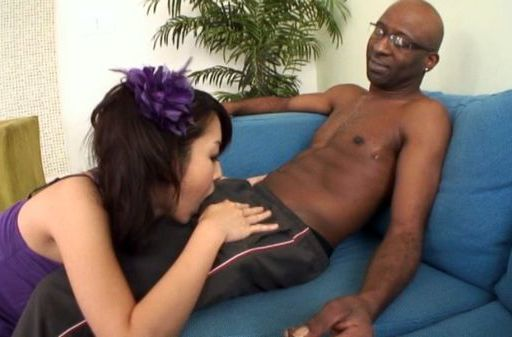 Marika enjoys two big black dicks