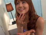 Akiho Yoshizawa gives delivery boy a hot sloppy blowjob!asian chicks, hot asian girls}
