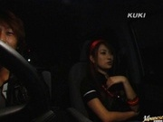 Nao Yoshizaki car blowjob and car sex!