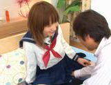 Horny Alice Ozawa fucking in school clothes! picture 10