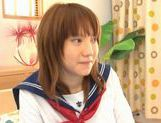 Horny Alice Ozawa fucking in school clothes! picture 1