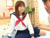 Horny Alice Ozawa fucking in school clothes! picture 2