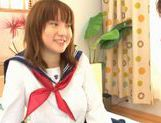 Horny Alice Ozawa fucking in school clothes! picture 4