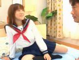 Horny Alice Ozawa fucking in school clothes! picture 5