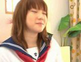 Horny Alice Ozawa fucking in school clothes!
