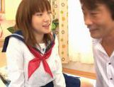 Horny Alice Ozawa fucking in school clothes! picture 8
